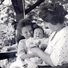 Kat being held by her sister Betty (born at the Hilton house in 1909) and her mother Hazel in the 'summer house' (the front gazebo).  This photo was taken in 1914.  Hazel died in 1934