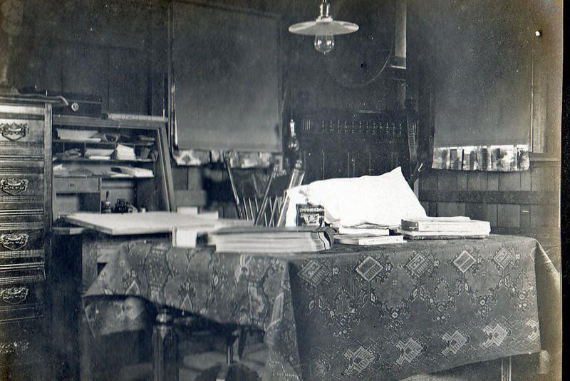Charles' workshop.
