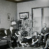 Charles Hobbs, 2nd from right.  His daughter Betty and his grand daughter Ann (3rd and 4th from right).  I believe that may be Lawrence Bolles (Betty's husband), 2nd from left.