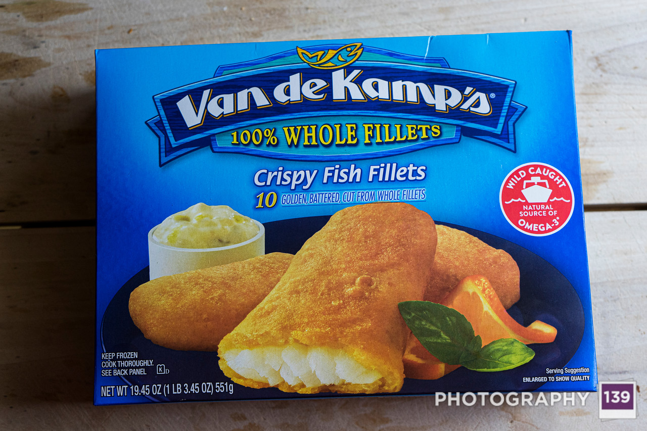 Van de Kamps's Crispy Fishy Fillets.