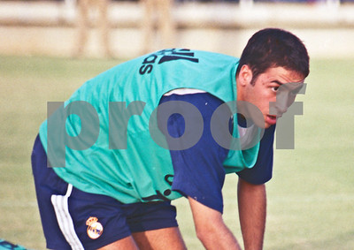 Raúl with Real Madrid training at La Manga Club, 20th August 2000