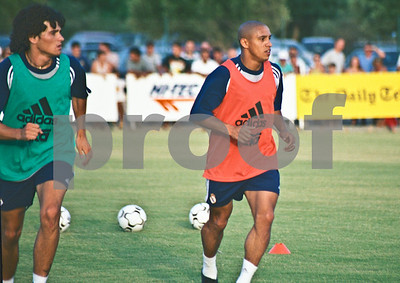 Roberto Carlos with Real Madrid training at La Manga Club, 20th August 2000