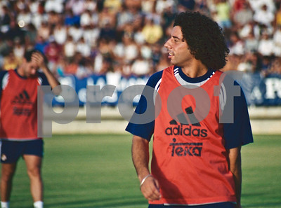 Iván Campo training with Real Madrid FC at La Manga Club, 20th August 2000