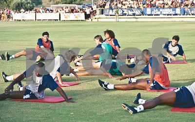 Real Madrid training at La Manga Club, 20th August 2000
