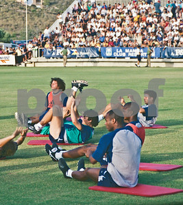 Iván Campo, Iker Casillas training with Real Madrid FC at La Manga Club, 20th August 2000