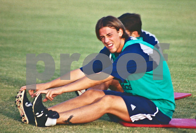 Guti training with the Real Madrid at La Manga Club, 20th August 2000