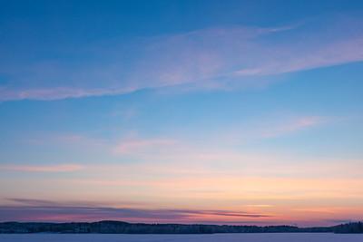 Serene sunset sky at winter