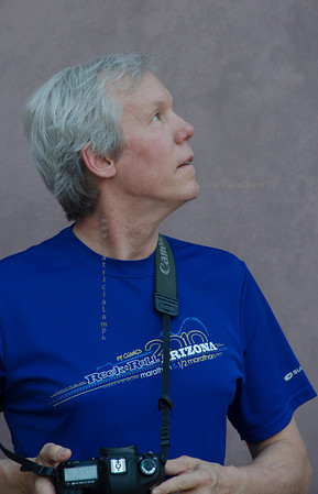 David blue shirt look up side ASU 3459