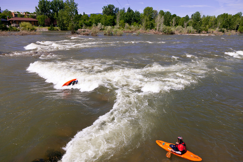 White water park near Caras Park, Missoula