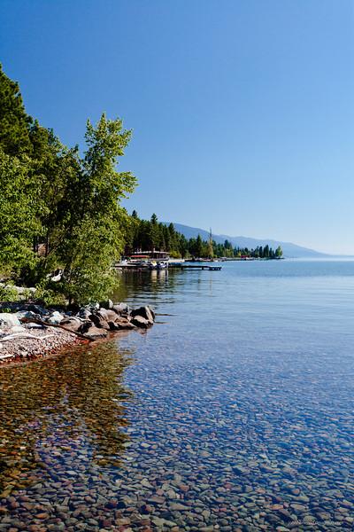 Crystal clear Flathead Lake