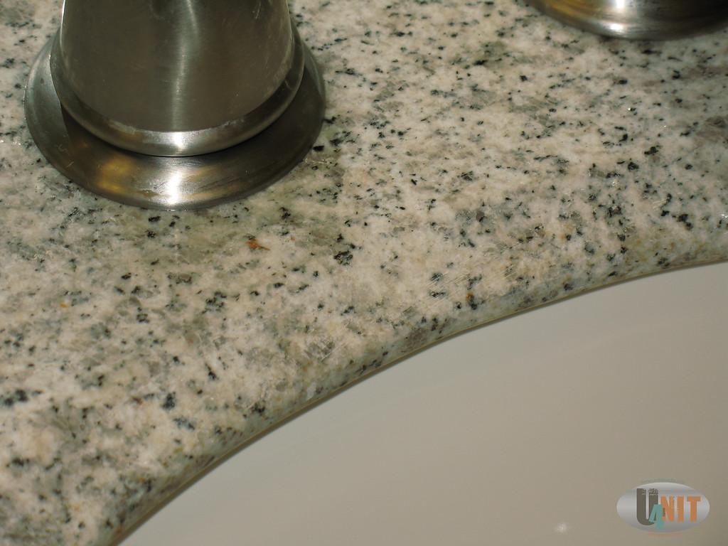 Upstairs bathroom, marble sink detail