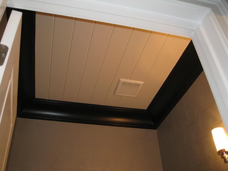 Ceiling - 1st floor powder room