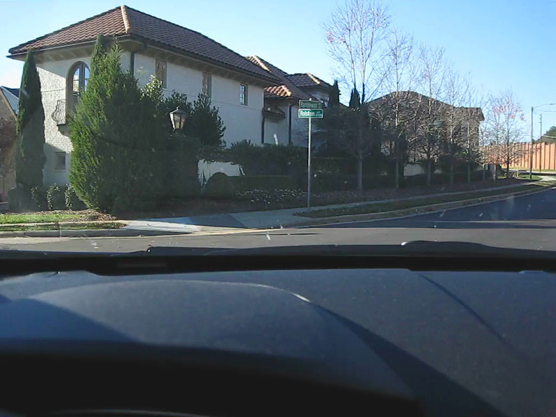 A quick drive through the front of the neighborhood.  We actually were driving much slower than it appears in the video!!! :)