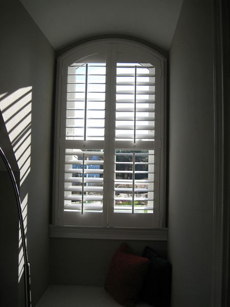 Window in bonus room with plantation shutter