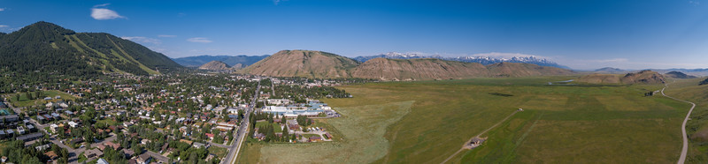 Town of Jackson looking toward Elk Refuge