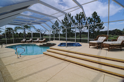 19_Enclosed pool area with spa and waterfalls