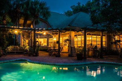 Gossamer House Pool Patio Evening-007