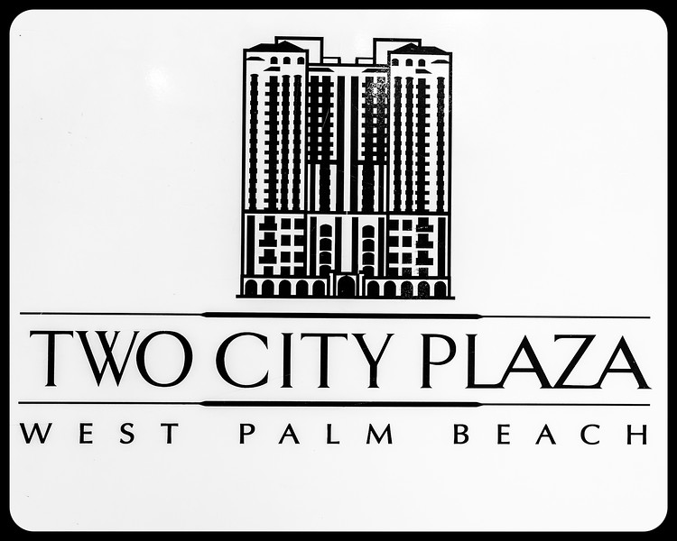 Two City Plaza Sign