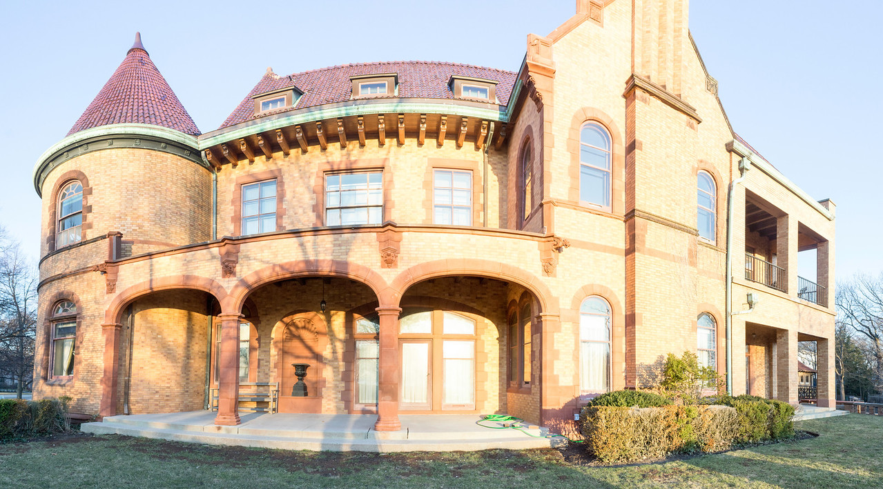 Backyard panorama of VP Charles Gates Dawes' House