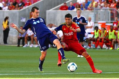 Real Salt Lake vs Carolina Railhawks * Open Cup 6-26-2013. Javier Morales (11)