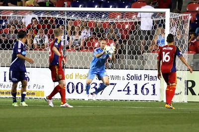Real Salt Lake vs Carolina Railhawks * Open Cup 6-26-2013. Josh Saunders (45)