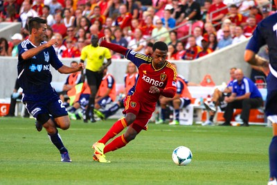 Real Salt Lake vs Carolina Railhawks * Open Cup 6-26-2013. Robbie Findley (10)