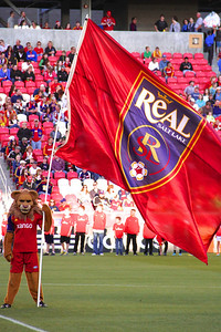 Real Salt Lake vs Seattle Sounders FC  3-30-2013. Leo the Lion