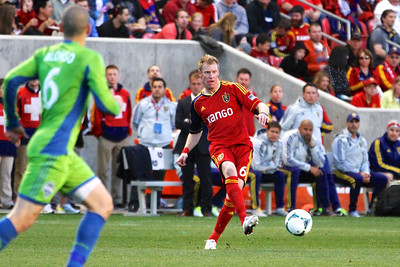 Real Salt Lake vs Seattle Sounders FC  3-30-2013. Nat Borchers (6)