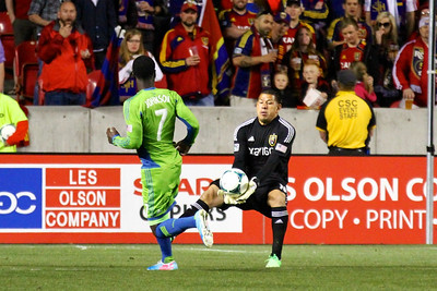 Real Salt Lake vs Seattle Sounders FC  3-30-2013. Nick Rimando (18)