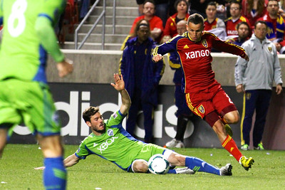 Real Salt Lake vs Seattle Sounders FC  3-30-2013. Luis Gil (21)