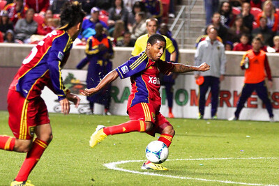 Real Salt Lake vs Seattle Sounders FC  3-30-2013. Joao Plata (8)