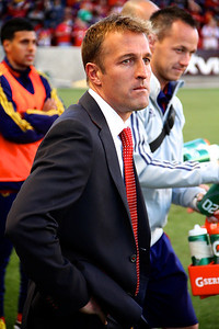 Real Salt Lake vs Seattle Sounders FC  3-30-2013. Coach Jason Kreis