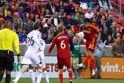Real Salt Lake vs Vancouver Rapids 5-4-2013. Tony Beltran (2)