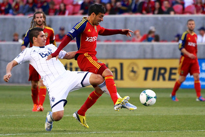 Real Salt Lake vs Vancouver Rapids 5-4-2013. Javier Morales (11)