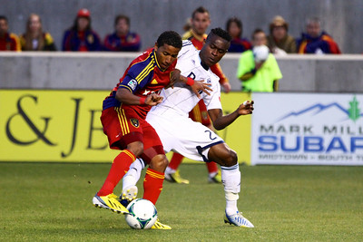 Real Salt Lake vs Vancouver Rapids 5-4-2013. Joao Plata (8)