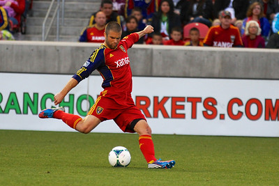 Real Salt Lake vs Vancouver Rapids 5-4-2013. Chris Wingert (17)