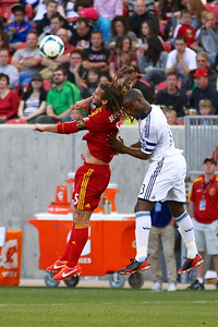 Real Salt Lake vs Vancouver Rapids 5-4-2013. Kyle Bekerman (5)
