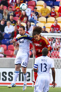 Real Salt Lake vs Vancouver Rapids 5-4-2013. Devon Sandoval (49)