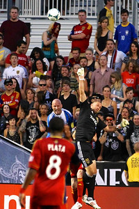 Real Salt Lake vs Philadelphia Union 7-3-2013. RSL ties Philly 2-2. Josh Saunders (45)