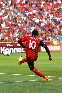 Real Salt Lake vs Philadelphia Union 7-3-2013. RSL ties Philly 2-2. Robbie Findley  (10)