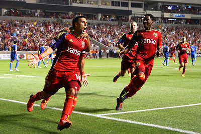 Real Salt Lake vs Philadelphia Union 7-3-2013. RSL ties Philly 2-2. Javier Morales (11)