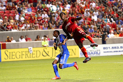 Real Salt Lake vs Philadelphia Union 7-3-2013. RSL ties Philly 2-2. Olmes Garcia (13)