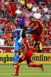 Real Salt Lake vs Philadelphia Union 7-3-2013. RSL ties Philly 2-2. Khari Stephenson (23)