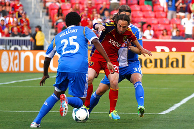 Real Salt Lake vs Philadelphia Union 7-3-2013. RSL ties Philly 2-2. Ned Grabavoy (20)