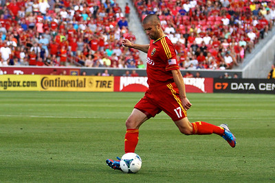Real Salt Lake vs Philadelphia Union 7-3-2013. RSL ties Philly 2-2. Chris Wingert (17)