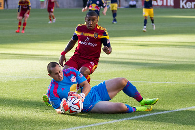 Real Salt Lake vs New York Red Bulls at Rio Tinto Stadium 07-30-2014. RSL draws with New York 1 - 1