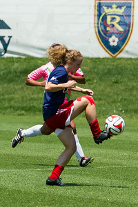 Real Salt Lake Women vs West Coast Wildkatz at America First Field 07-06-2014. RSL Women won 3-0.