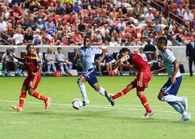 Real Salt Lake vs Sporting Kansas City on 7-24-2015 at Rio Tinto Stadium. RSL defeats Sporting KC 2-1. ©2015  Bryan Byerly