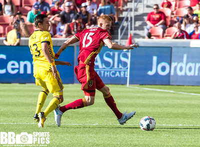 Real Salt Lake vs Columbus Crew at Rio Tinto Stadium 07-29-2017. RSL draws with the Crew 2-2. #RSL #RSLvCLB #ASONE #BELIEVE   ©2017 Bryan Byerly