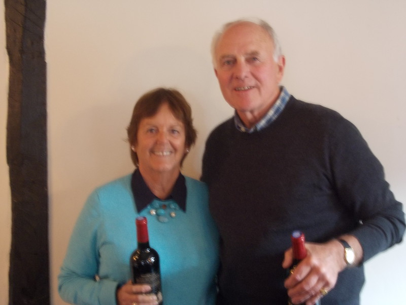 Saturday afternoon & Saturday evening pairs: Ann Bartle & Ian Bartle